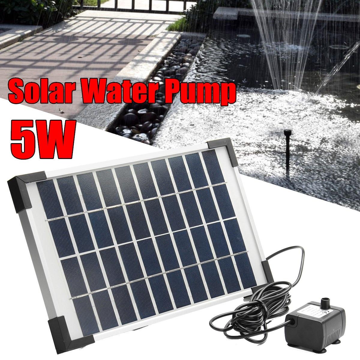 5 W 500L/H Micro énergie solaire fontaine pompe Mini pompe à eau pour étang fontaine rocaille fontaine jardin fontaine