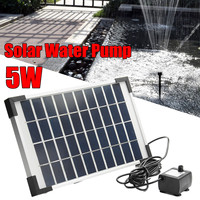 5W 500L/H Micro Solar Energy Fountain Pump Mini Water Pump For Pond Fountain Rockery Fountain Garden Fountain