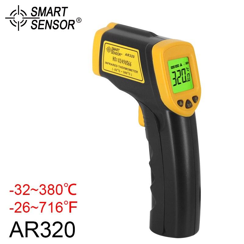 AR320 A CRISTALLI LIQUIDI IR Termometro Digitale A Infrarossi Laser-32 380C Senza Contatto di Temperatura Meter Gun Per L'industria