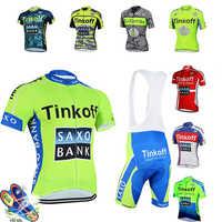 Tinkoff Pro verano equipo de Ciclismo conjuntos de Ropa de Ciclismo de alta calidad Ropa de Ciclismo Kit hombres de triatlón Skinsuit Skying bicicleta uniforme