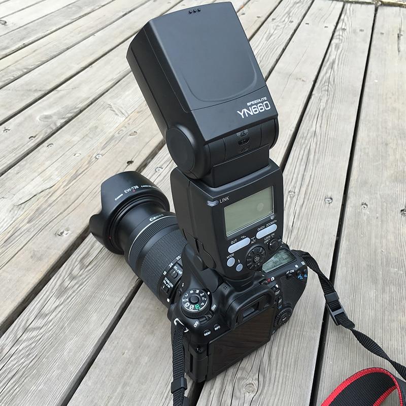 Original YONGNUO YN660 Wireless Flash Speedlite GN66 2.4G Wireless HSS 1/8000s for Canon Nikon Pentax Olympus camera стоимость