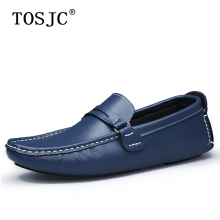 где купить TOSJC 2019 Mens Casual Loafers Summer Comfortable Male Slip On Flats Moccasins Fashion Men Penny Shoes Driving Footwear Size 48 по лучшей цене