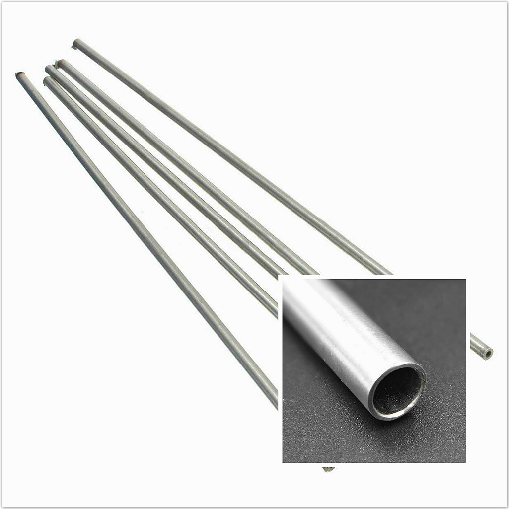 4pcs 250mm 5mm OD 3mm ID 304 Stainless Seamless Steel Capillary Silver Tubes