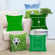 Campo de fútbol Campo de Fútbol Cuadrado Cojín Throw Pillow for Living Room Bed Room Gran Regalo para el Amigo