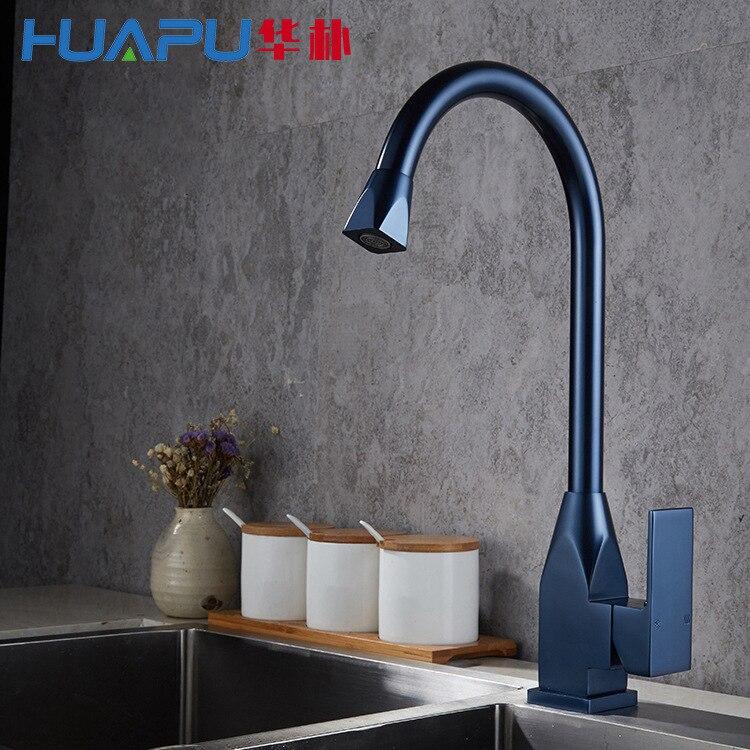 Robinet Vertical cuisine chaud et froid évier mélangeur espace aluminium brossé robinet d'eau robinet pour cuisine/salle de bain lampe douche V - 3