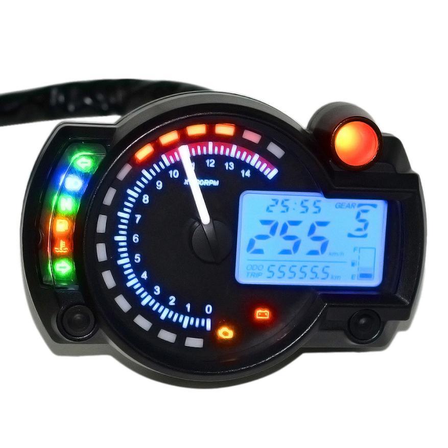 Backlight LCD Digital Motorcycle Speedometer Odometer Motor Bike Tachometer Wonderful4.27/30%