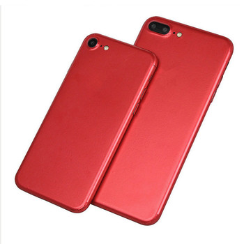 New Bright Red color Skins Protective Film Wrap Skin Cellphone back paste Protective Film Sticker For iphone 6 6s/6splus/7/7plus image