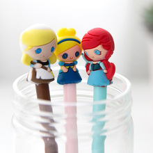 2 pcs/lot 0.5mm Cute young girl princess Gel Pen Promotional Gift Stationery School Office Supply Kawai Neutral pen