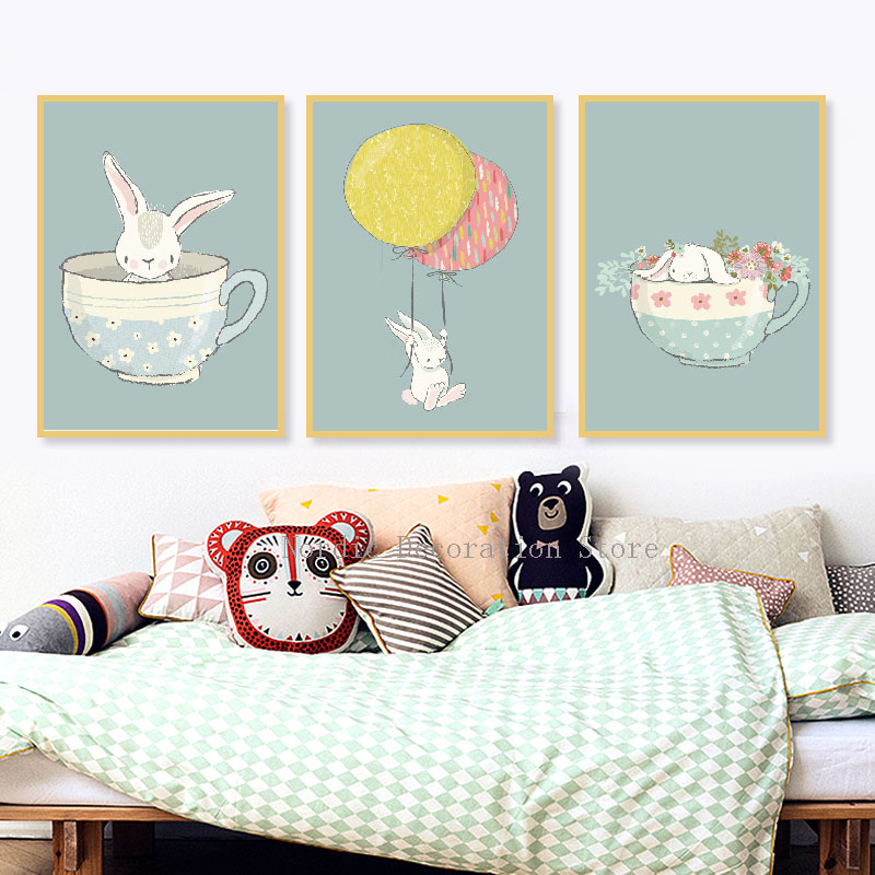 Nordic Style Kids Home Decor Kid Posters And Prints Wall ... on Room Decor Posters id=95130