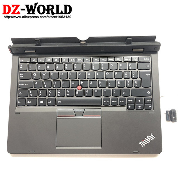 US $102 9  HU New/Orig for Thinkpad HELIX 20CG 20CH Hungarian Backlit  Keyboard Assm w/ Bottom Case & Touchpad & Battery 03X7063 SL10G79982-in