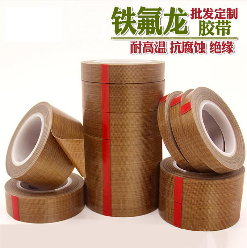 10M Long PTFE Teflon Tape High Temperature Heat-Resistant Adhesive Tape 5mm to 200mm Wide Custom Made Available