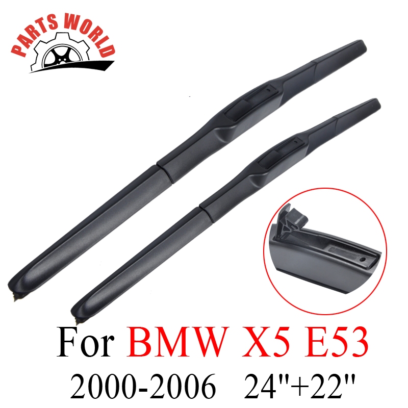 Windscreen Front Wiper Blades For BMW <font><b>X5</b></font> <font><b>E53</b></font> 2000-<font><b>2006</b></font> Auto Windshield Natural Rubber Wipers Car Accessories Glasses Brushes image