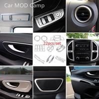 Левой рукой диск! Для Mercedes Benz Vito W447 2014 2015 2016 2017 2018 ABS Матовый интерьера аксессуары украшения крышка отделка 22 шт.