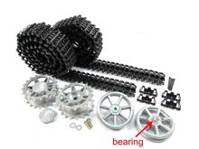 Mato Metal upgraded Tracks, sprockets, idler wheels parts set for Heng Long 3858-1 1/16 1:16 RC Panzer IV tank