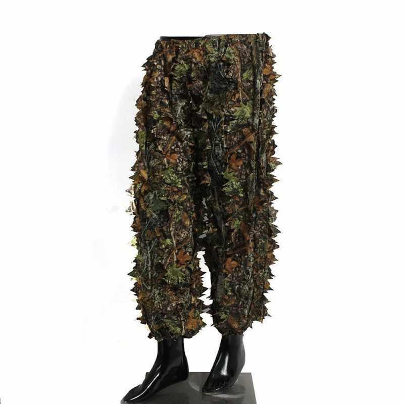 狩猟スーツ 3D 迷彩バイオニック葉迷彩ジャングル森林バードウォッチングポンチョマント狩猟服耐久性