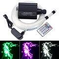Nuevo 16 W RGBW LED estrella de fibra óptica de techo cielo Kit de luz 200 piezas/300 piezas/400 piezas * 0,75 MM * 2 M de fibra óptica + 28 remoto clave