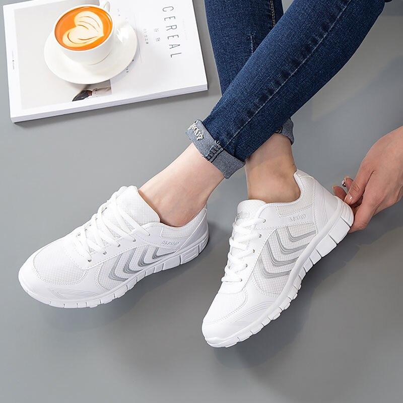rose Respirant gray Maille dark Gray Femmes Feminino White blue pink Antidérapant Vente 2018 Chaude Mesh Femme Casual Tenis Sneakers Chaussures bfg76yY