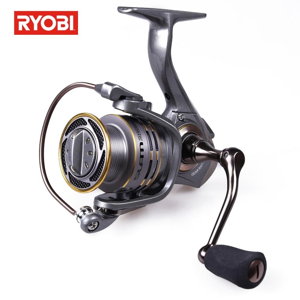 цены RYOBI NCRT Slam Carbon Fiber Drag Spinning Reel 5.1:1 Max Drag 2.5kg Saltwater Fishing Reel 6+1BB Fishing Carp Reels