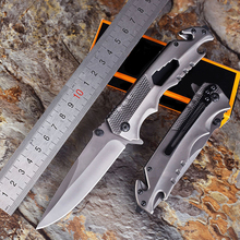 High hardness Titanium-plated Outdoor Folding Pocket Knives Camping Knife Hunting Knife Tactical Knife Military Survival Knife high hardness tactical folding knife survival pocket knife hunting knives milling pattern handle inlaid micarta 1084