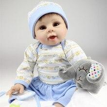 50-55 CM Realistic Silicone Newborn Baby Dolls For Baby Boys Big Eyes Lifelike Reborn Baby Dolls Toys Lifelike Baby Alive Dolls