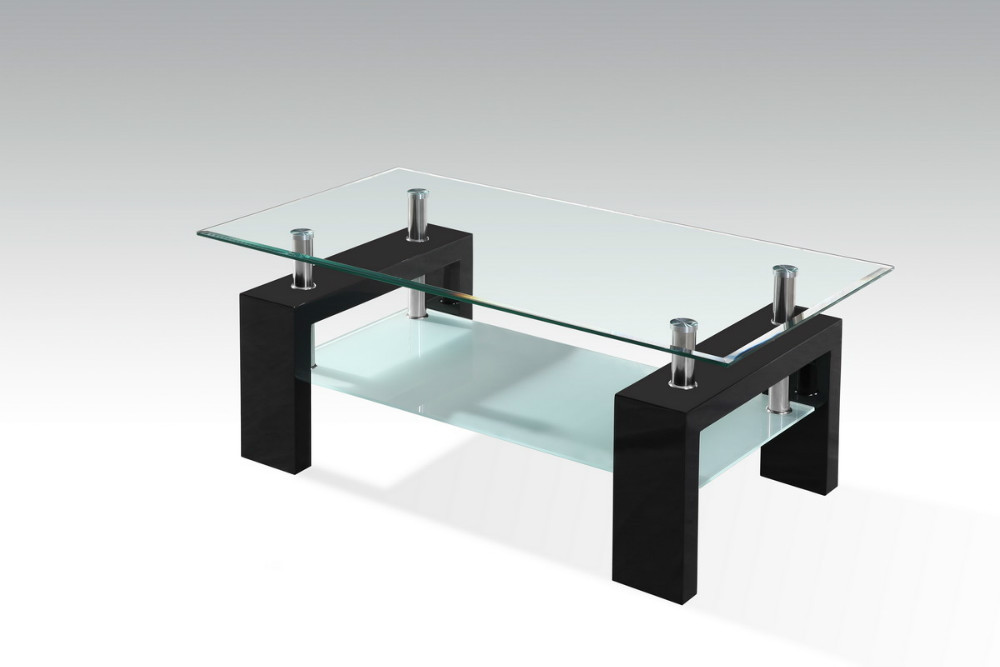 Wood Coffee Table With Glass Top, MDF With Painting Table Legs, Promotion  Tea Table For Living Room  In Coffee Tables From Furniture On  Aliexpress.com ...