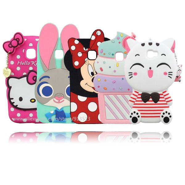 Cartoon Stitch Minnie Hello Kitty Świnia Lody Phone Back Cover 3D Etui Do Samsung Galaxy J1