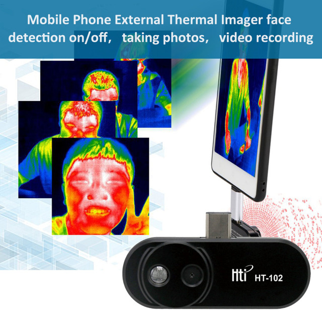 Mobile Phone External Infrared Thermal Imager Infrared Camera for Android Phones With OTG Function Thermal Instruments With Adap