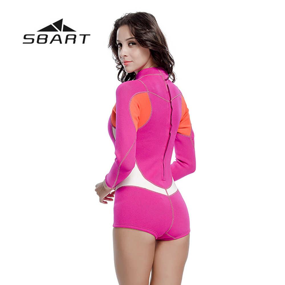 Nowy SBART skafander krótki Kite Surfing nurkowanie z rurką stroje kąpielowe strój kąpielowy strój kąpielowy nurkowanie z aparatem tlenowym jednoczęściowy garnitur plaża wysypka Guard 2mm z neoprenu