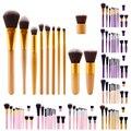 Olho Pincéis de Maquiagem 11 Pcs Pincel de Maquiagem Profissional Definida Cosméticos Sombra Delineador Compõem Ferramentas Kit de Beleza Escova Lápis