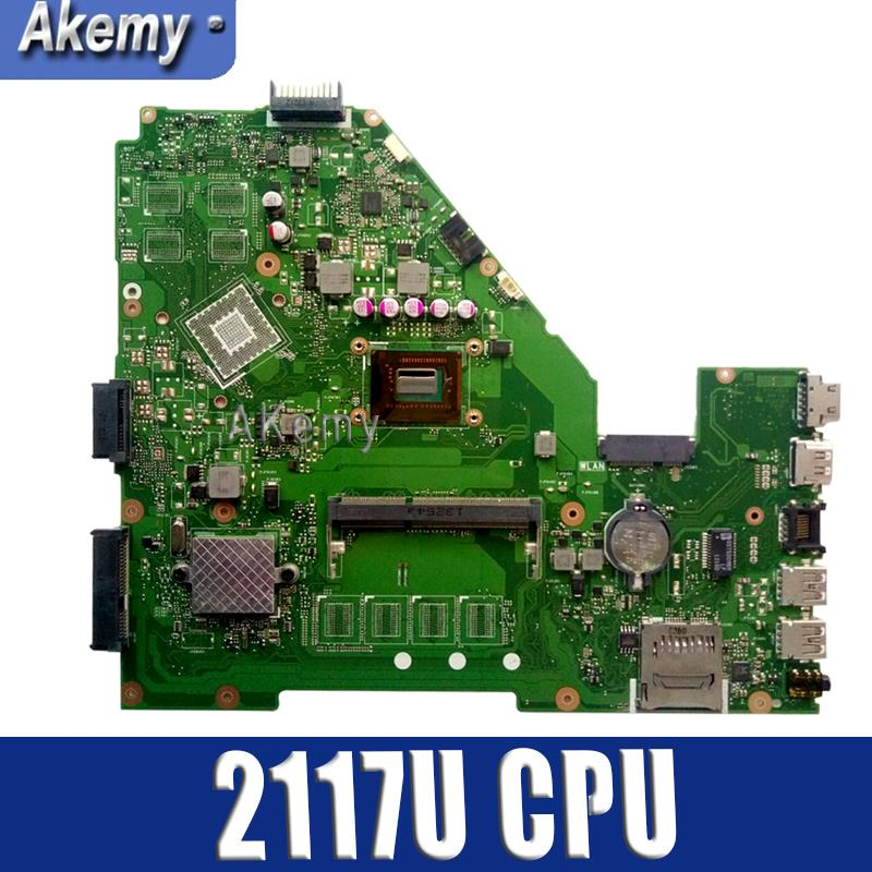 Akemy X550CA Laptop Motherboard For ASUS X550CA X550CC X550CL R510C Y581C X550C X550 Test Original Mainboard 2117U CPU