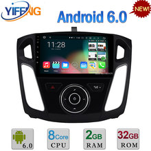"9 ""Android 6.0 Octa Core WIFI RDS PX5 2 GB RAM 32 GB ROM DAB DVD del coche Reproductor MultiMedia Estéreo de Radio DEL GPS Para Ford Focus 3 2012-2016"
