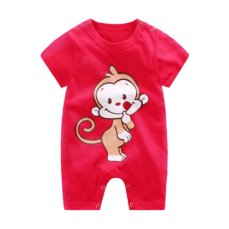 HTB1o.SevOOYBuNjSsD4q6zSkFXaA baby clothes 100% cotton short sleeve summer girls boys rompers toddler infant 0-18 months clothes