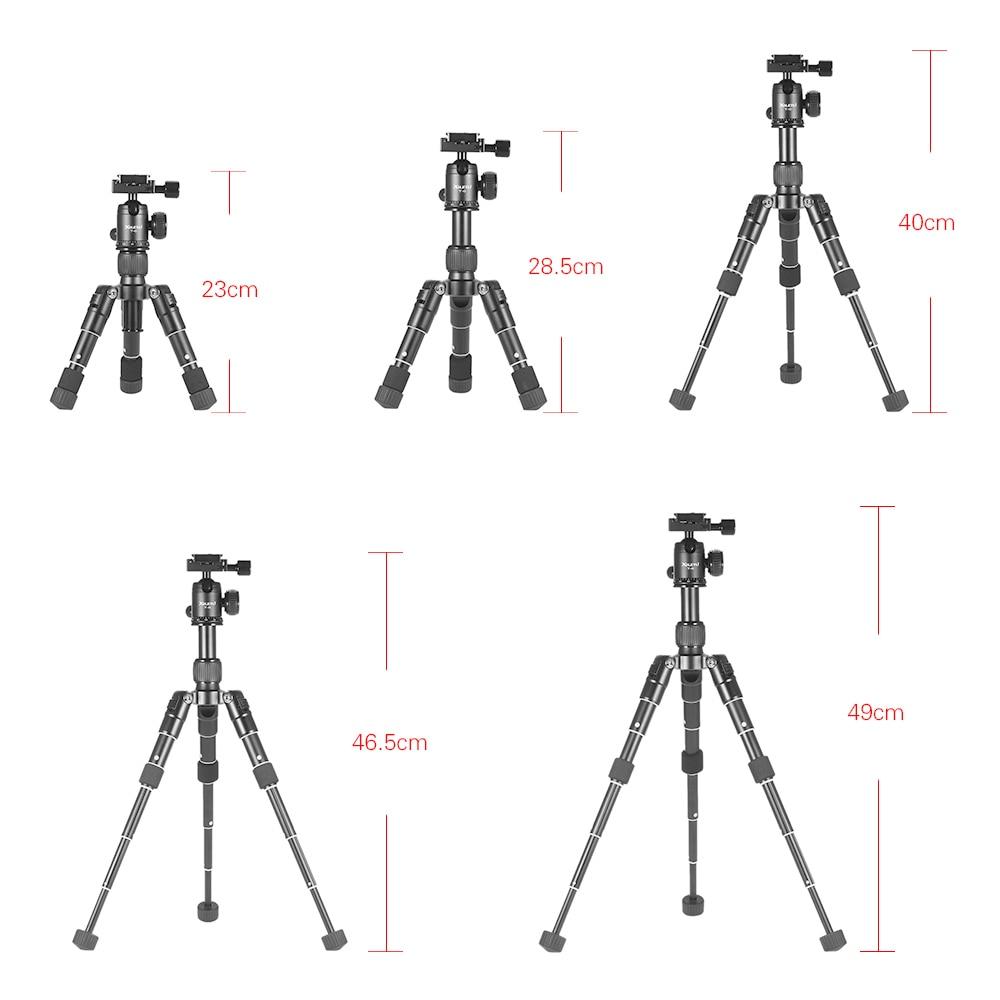 Pulsuz çatdırılma XILETU FM5-MINI Alüminium Tripod Sabit Masa - Kamera və foto - Fotoqrafiya 4