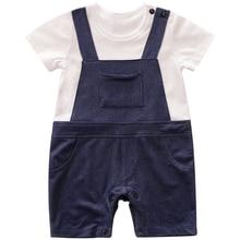 2019 Brand New Summer Baby Rompers Boy Girl Clothing Leisure Short Sleeve Infant Pajamas Kids