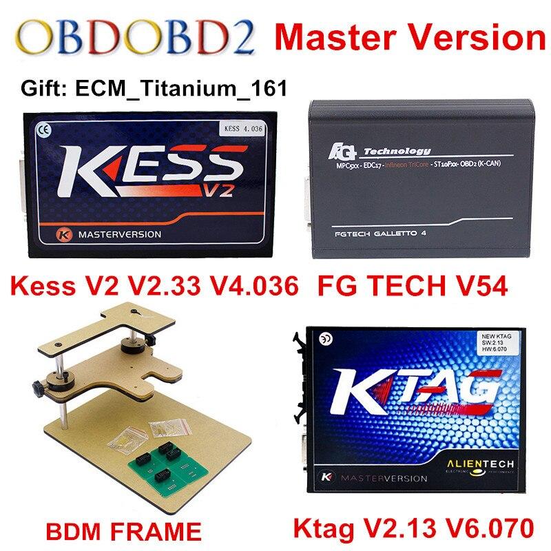 ECU Programmierer KTAG V2.13 + V2.33 KESS V2 V4.036 + FG TECH Galletto 4 V54 + BDM RAHMEN Volle KTAG V7.020 5,017 KESS V5.017 DHL freies