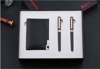 Black Business Gift Fountain Pen Rollerball Pen Card Holder Set Picasso Pimio Luxury Christmas Gift 0.5mm Pens with A Box
