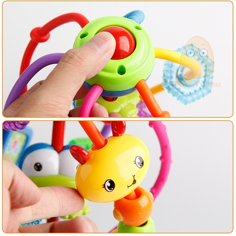 Baby Rattle Activity Ball Rattles Educational Toys For Babies Grasping Ball Puzzle Playgro Baby Toys 0-12 Months climb Learning Islamabad
