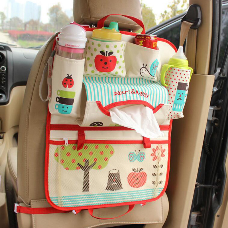 Maternal and Child Supplies Cartoon Animation Car Back Pouch Bag Versatile Lovely Girls Children Car Debris Storage Seat