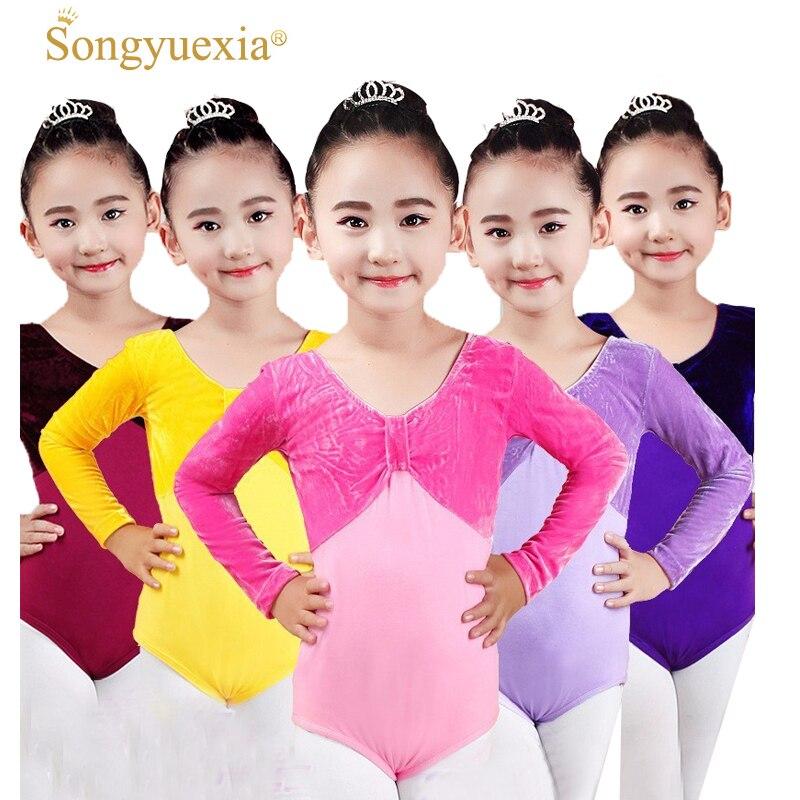 Novelty & Special Use Original Professional Girls Ballet Dance Leotard Long Sleeve Lovely Dance Wear Toddler Kids Stage Performance Cotton Gymnastics Leotard