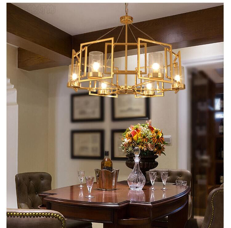 north European art atmosphere golden glass ceiling lamp bedroom living room lighting exhibition hall ceiling light