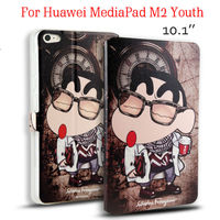 MediaPad M2 Youth Tablet Case Funda 10 1 Flip Stand Cover Flower Print PU Leather For