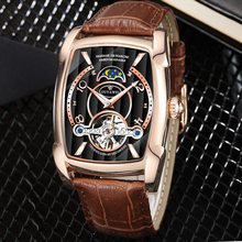 2019 New Men's Watch Automatic Tourbillon Business Casual Leather Moon Phase Wrist Watch Top Brand Luxury Mechanical Watches ik brand luxury diamond automatic mechanical clock casual genuine leather strap moon phase business mens s watch