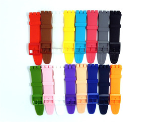 Image 2 - Rubber Silicone Wrist Watch Band Strap for Swatch 16mm 17mm 19mm 20mm Watchband Accessories