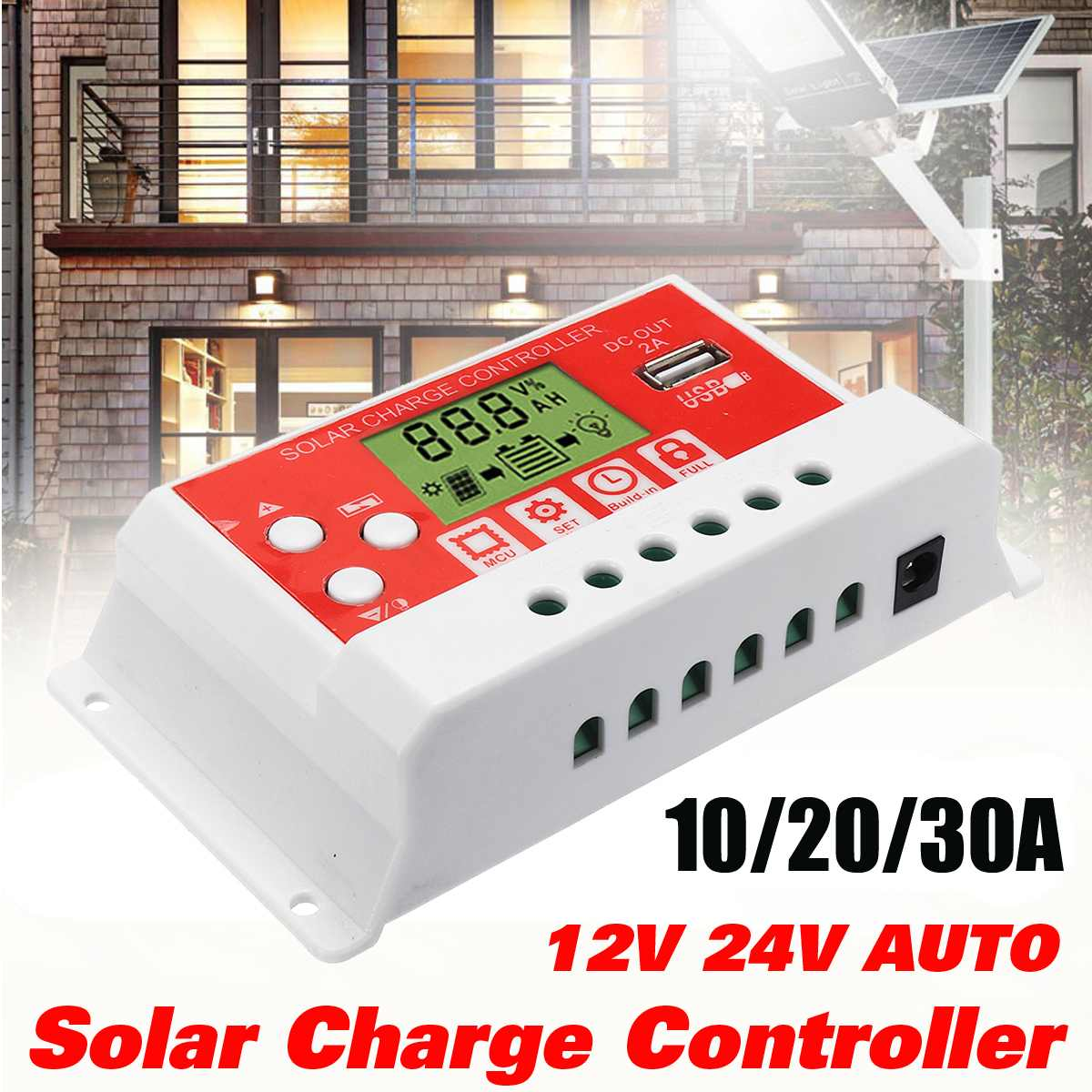 10/20/30A 12V/24V AUTO Solar Charge Controller LCD Display PWM USB Solar Panel Regulator Charge Controller Hot10/20/30A 12V/24V AUTO Solar Charge Controller LCD Display PWM USB Solar Panel Regulator Charge Controller Hot