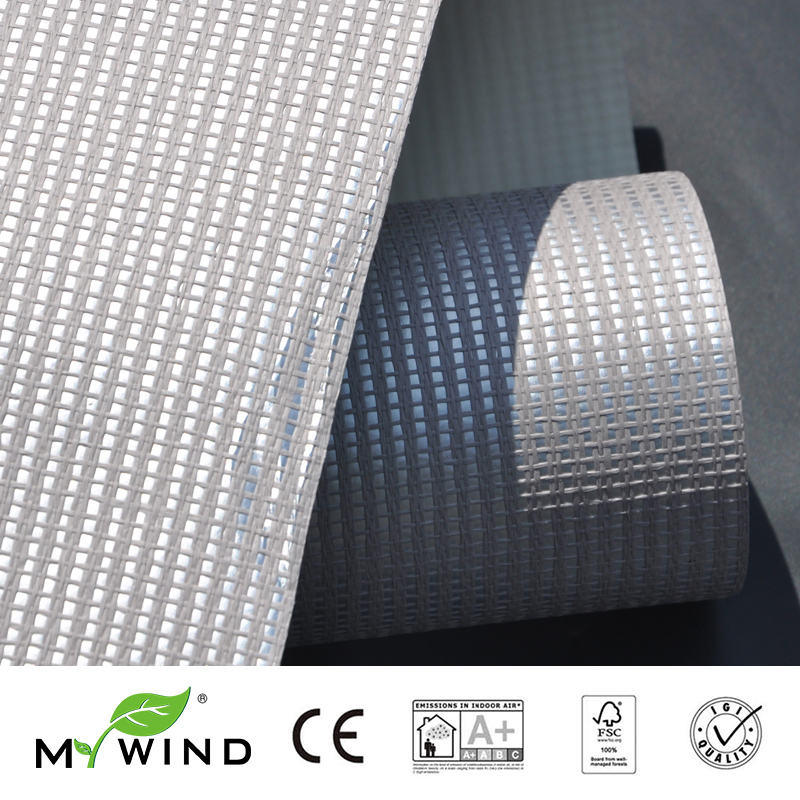 2019 MY WIND Silver Grasscloth Wallpapers Luxury 3D Design Wallpaper In Roll Home Decor Designs Sticker Wall Paper Mural