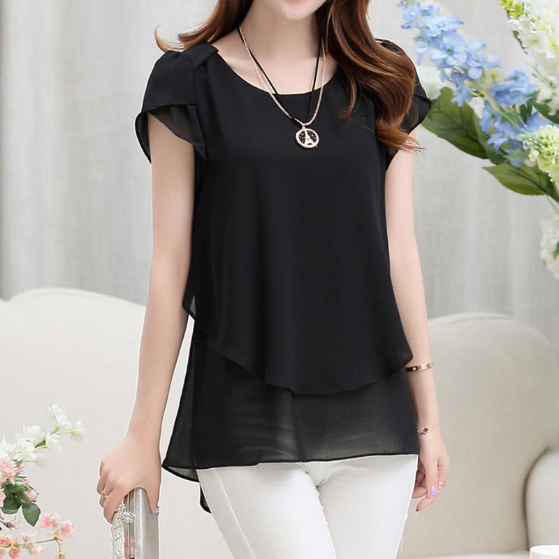short sleeve chiffon blouse (15)