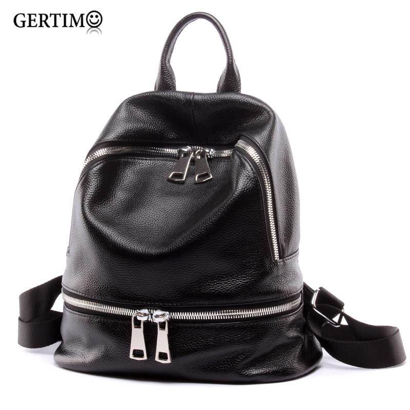 Модный 2019 женский 100% дизайнерский рюкзак из натуральной кожи черный женский маленький рюкзак для путешествий для девочек подростков; Sac A Dos Femme