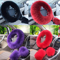 2016 Hot Sale Steering Wheel Cover Steering Wheel Volante Winter Car-covers On Steering Wheel Car Premium Soft Short Fur