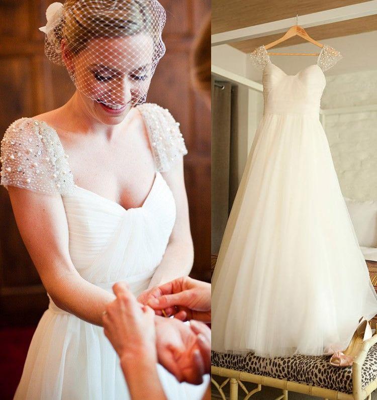 Real Maine Weddings 2017: Real Photo Wedding Dress 2017 Crystal Beaded Cheap Wedding