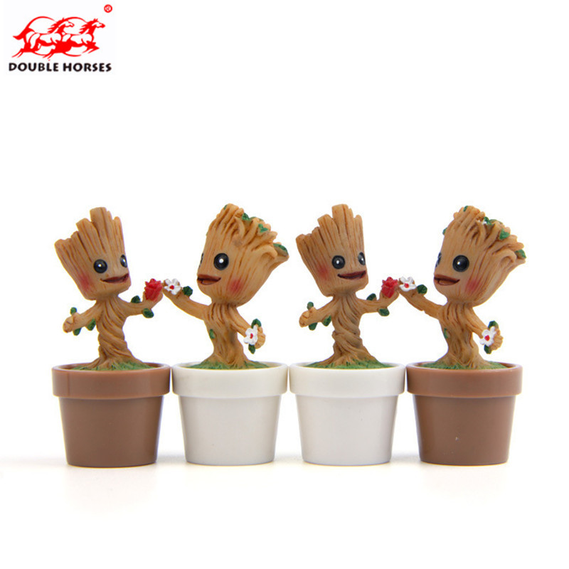NEW Guardians are Mini Galaxy Baby Groot cartoon model for gift hero model Collectors Childs birthday present